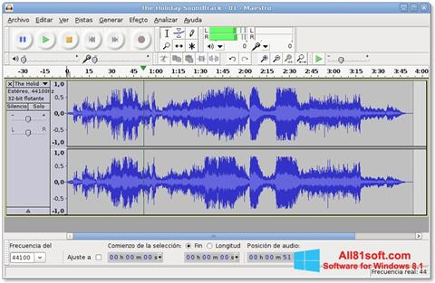Screenshot Audacity Windows 8.1