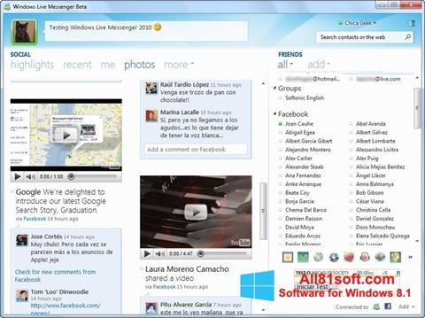 Screenshot Windows Live Messenger Windows 8.1