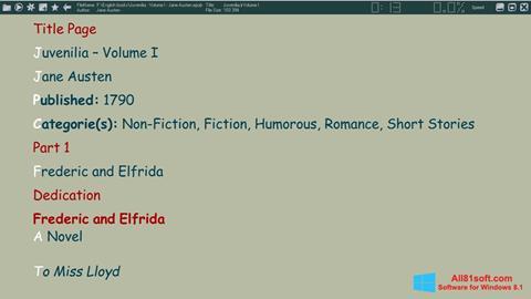 Screenshot ICE Book Reader Windows 8.1