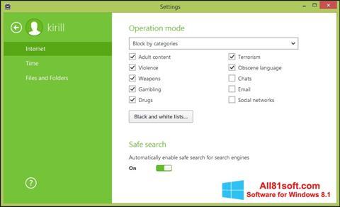 Screenshot Dr.Web Security Space Windows 8.1