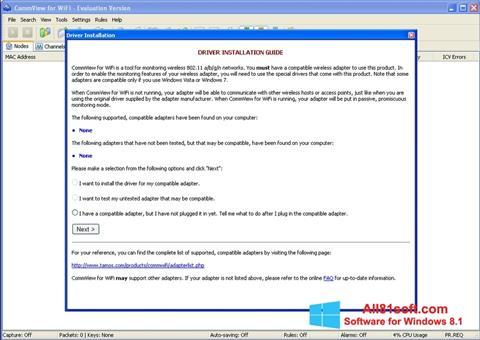 Screenshot CommView for WiFi Windows 8.1