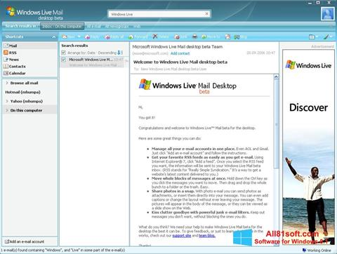 Screenshot Windows Live Mail Windows 8.1