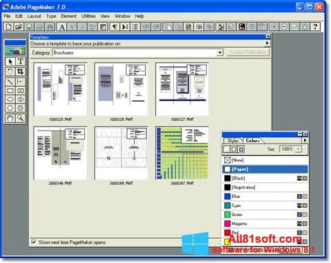 Screenshot Adobe PageMaker Windows 8.1