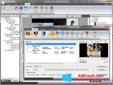 Screenshot Free Video Editor Windows 8.1