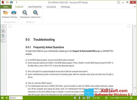 Screenshot Hamster PDF Reader Windows 8.1