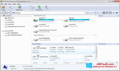 Screenshot RS Partition Recovery Windows 8.1