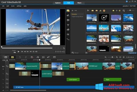 Screenshot Corel VideoStudio Windows 8.1