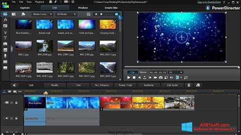 Screenshot CyberLink PowerDirector Windows 8.1