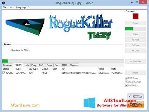 Screenshot RogueKiller Windows 8.1