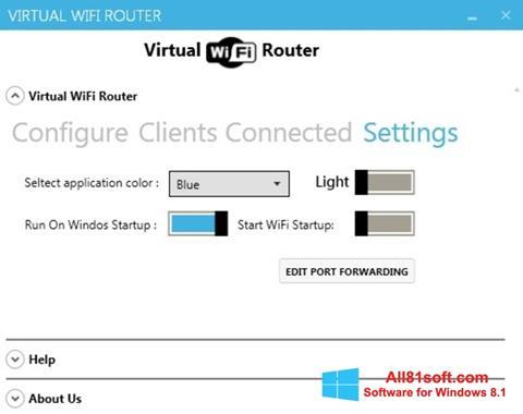 Screenshot Virtual WiFi Router Windows 8.1