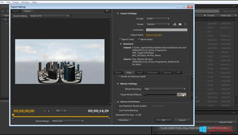 Screenshot Adobe Media Encoder Windows 8.1