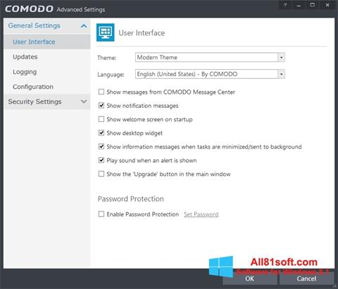 Screenshot Comodo Internet Security Windows 8.1