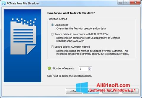 Screenshot File Shredder Windows 8.1