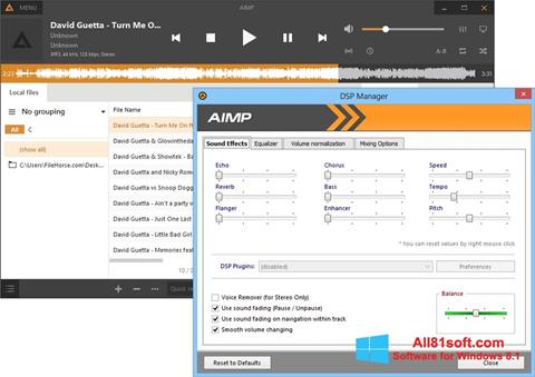 Screenshot AIMP Windows 8.1