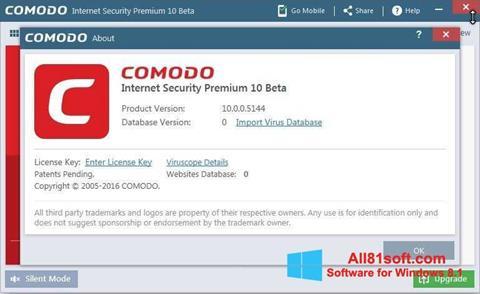 Screenshot Comodo Windows 8.1