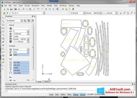 Screenshot DraftSight Windows 8.1