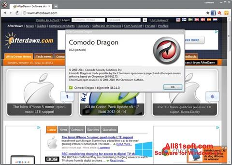 Screenshot Comodo Dragon Windows 8.1