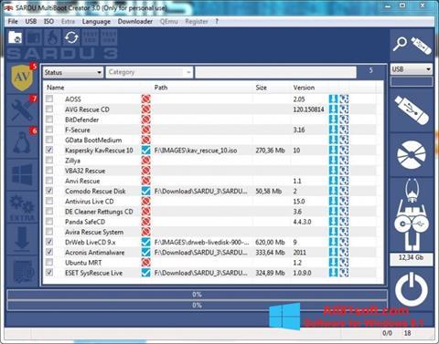Screenshot SARDU Windows 8.1