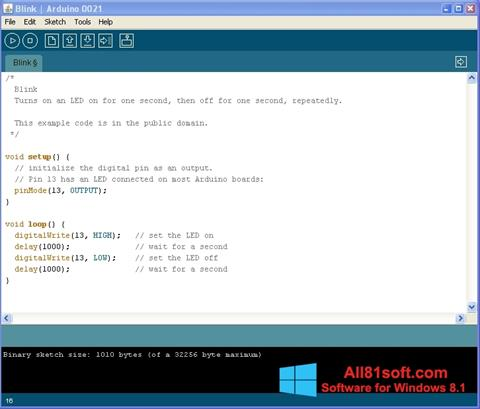 Screenshot Arduino Windows 8.1