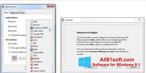 Screenshot Pidgin Windows 8.1