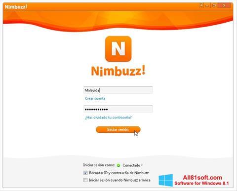 Screenshot Nimbuzz Windows 8.1
