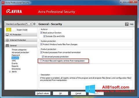 Screenshot Avira Professional Security Windows 8.1