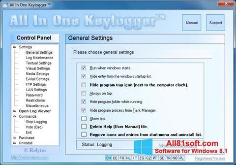 Screenshot Keylogger Windows 8.1