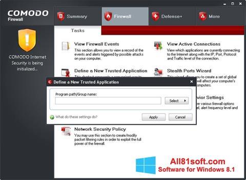 Screenshot Comodo Firewall Windows 8.1