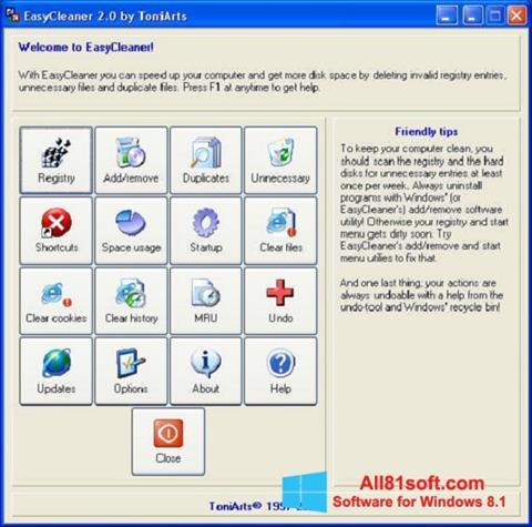 Screenshot EasyCleaner Windows 8.1