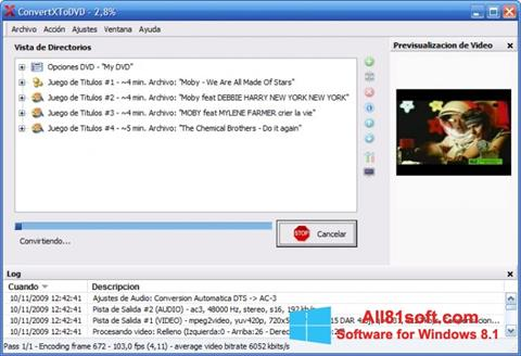 Screenshot ConvertXToDVD Windows 8.1