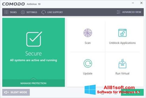 Screenshot Comodo Antivirus Windows 8.1