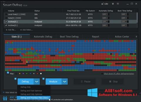 Screenshot Smart Defrag Windows 8.1