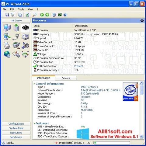 Screenshot PC Wizard Windows 8.1