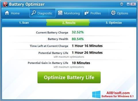 Screenshot Battery Optimizer Windows 8.1