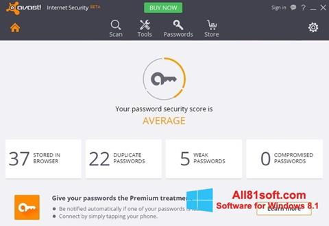 Screenshot Avast Internet Security Windows 8.1