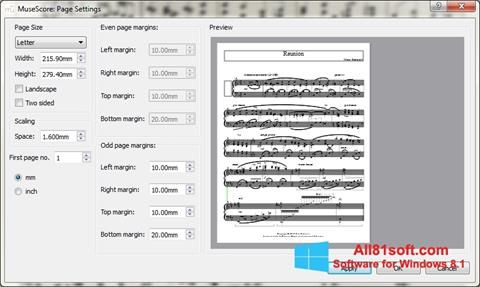 Screenshot MuseScore Windows 8.1