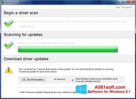 Screenshot Device Doctor Windows 8.1