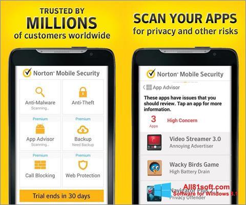 Screenshot Norton Mobile Security Windows 8.1