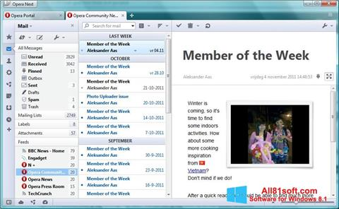 Screenshot Opera Mail Windows 8.1