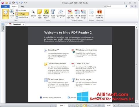 Screenshot Nitro PDF Reader Windows 8.1