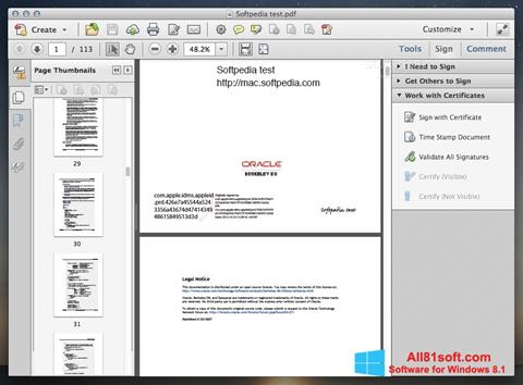 Screenshot Adobe Acrobat Windows 8.1