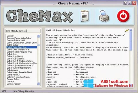 Screenshot CheMax Windows 8.1
