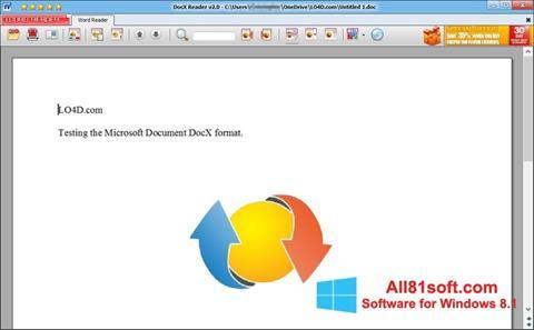 Screenshot DocX Reader Windows 8.1